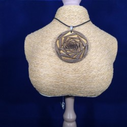 Pendentif Spiral rose